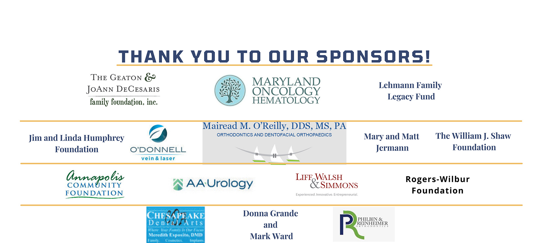 Because of You Sponsors – Slide